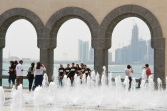 Cooling off at the Museum of Islamic Art, Doha Qatar.