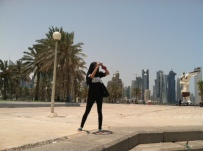 YES Digital journalists hit the sweltering streets of Doha, Quatar.