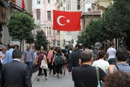 Downtown Istanbul.