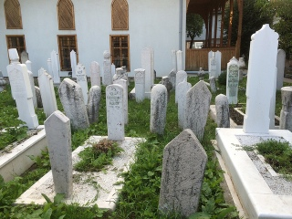 Cemetery in the old city-- Bascarsija., Sarajevo.
