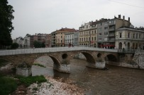 The bridge where WWI started. Sarajevo.