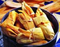 We make dozens and dozens of tamales for the holiday.